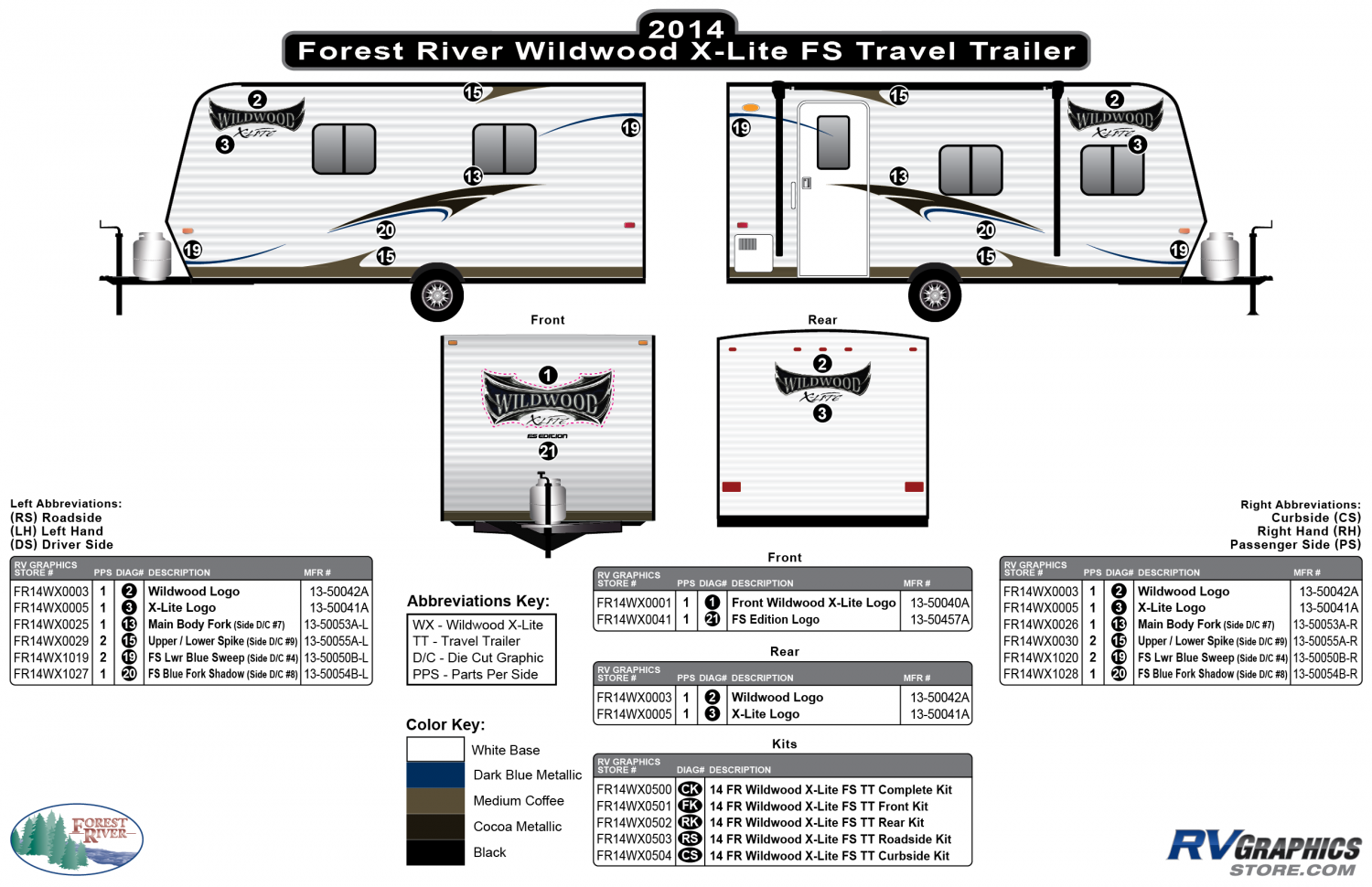 Wildwood X-Lite - 2014 Wildwood X-Lite FS Edition TT-Travel Trailer