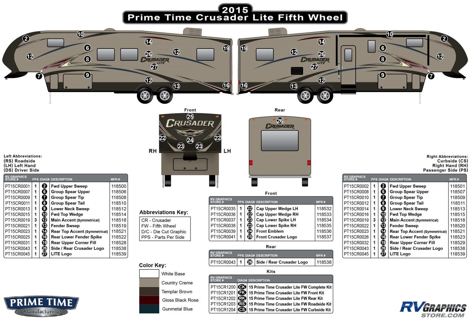 Crusader - 2015 Crusader Lite FW-Fifth Wheel