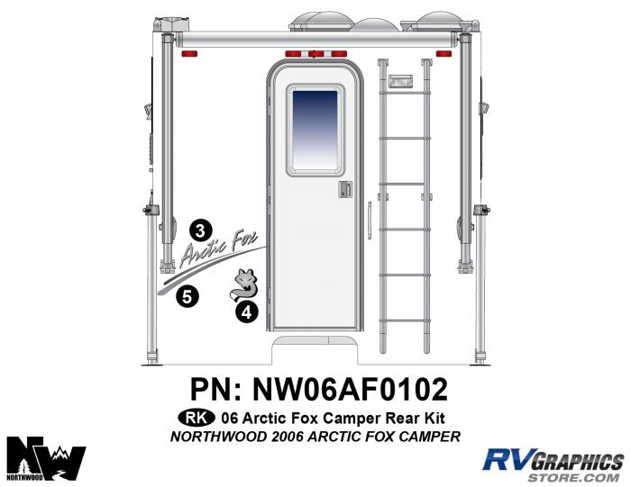 2006 Arctic Fox Camper Rear Kit