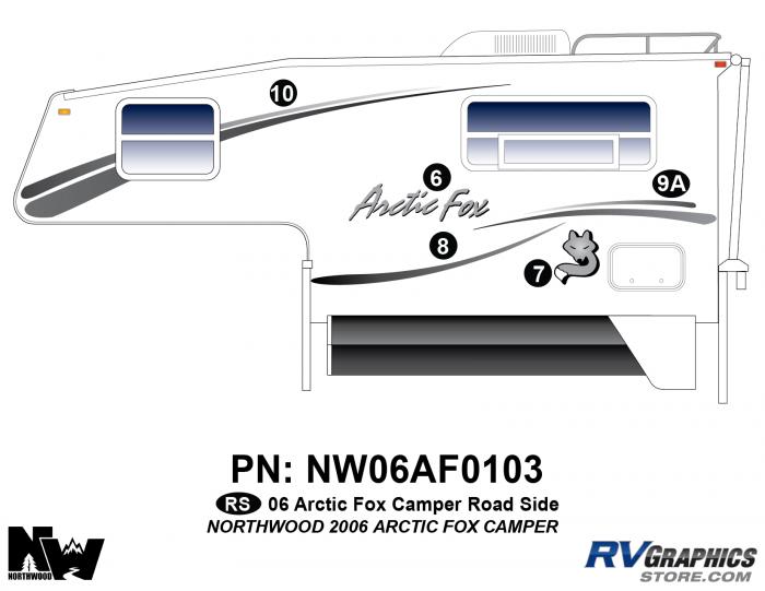 2006 Arctic Fox Camper Left Side Kit