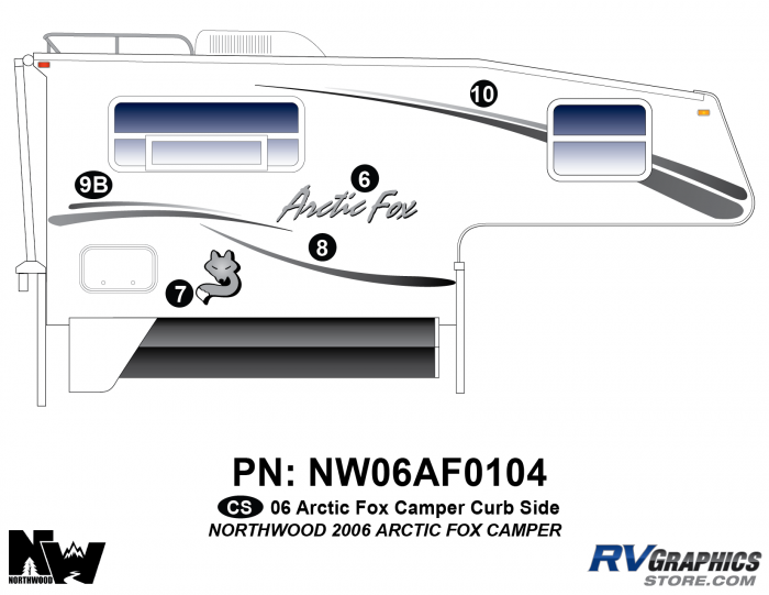 2006 Arctic Fox Camper Right Side Kit