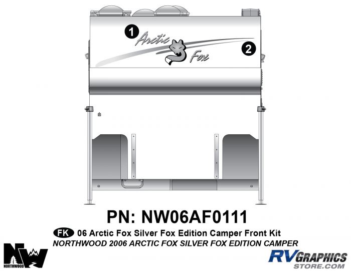 2006 Arctic Fox Silver Fox Edition Camper Front Kit