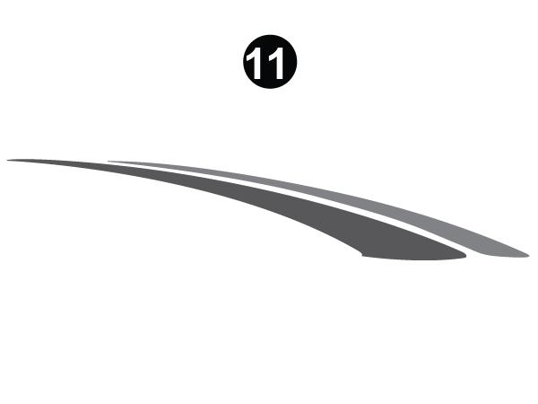 "Bottom Double Sweep; 129.5"" long-RH/CS"
