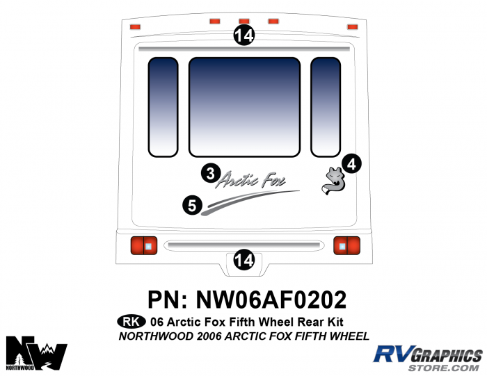 2006 Arctic Fox FW Rear Kit