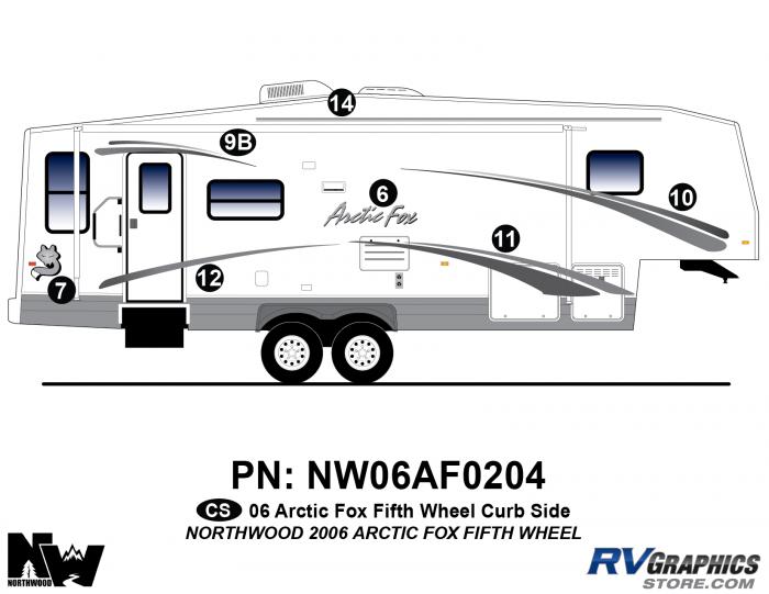 2006 Arctic Fox FW Right Side Kit