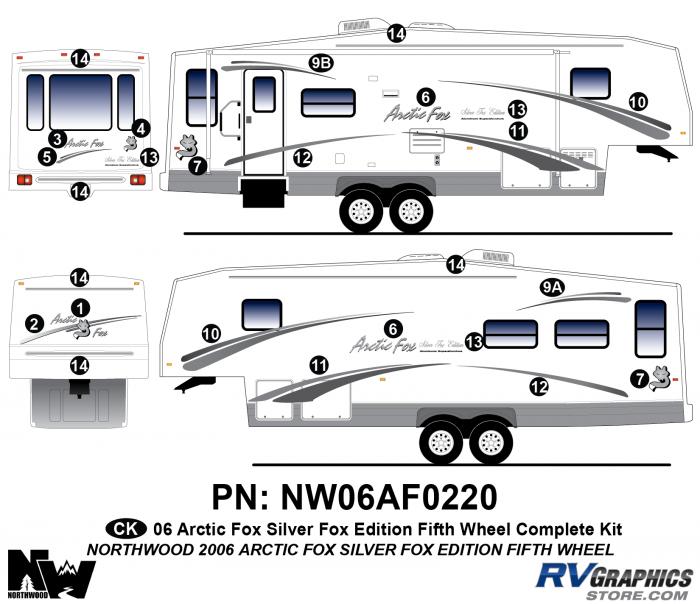 2006 Arctic Fox Silver Fox Edtion FW Complete Kit