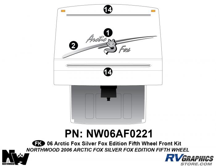 2006 Arctic Fox Silver Fox Edtion FW Front Kit