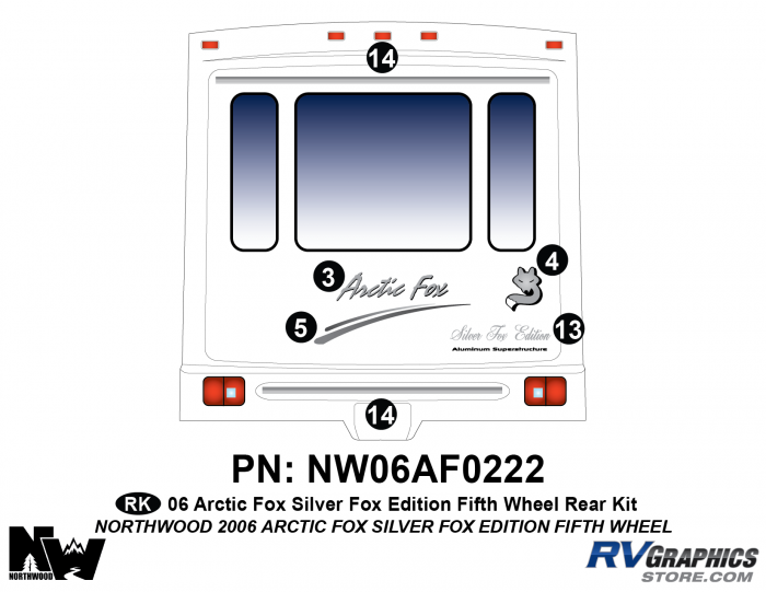 2006 Arctic Fox Silver Fox Edtion FW Rear Kit