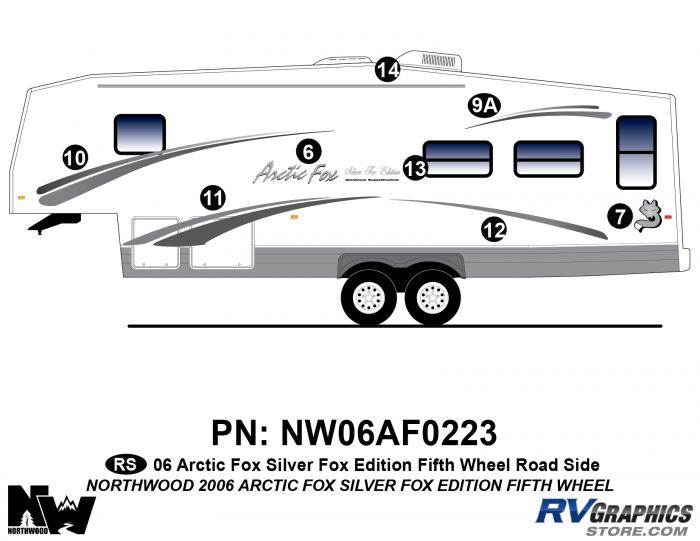 2006 Arctic Fox Silver Fox Edtion FW Left Side Kit