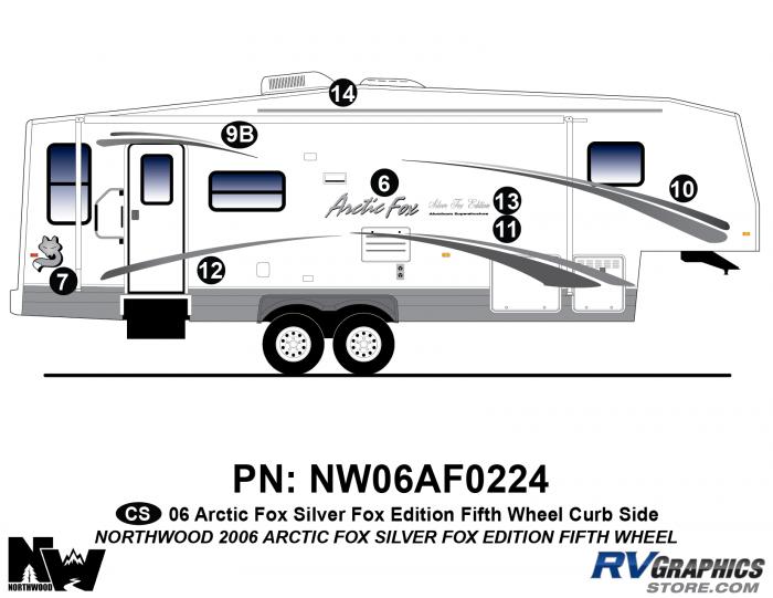 2006 Arctic Fox Silver Fox Edtion FW Right Side Kit
