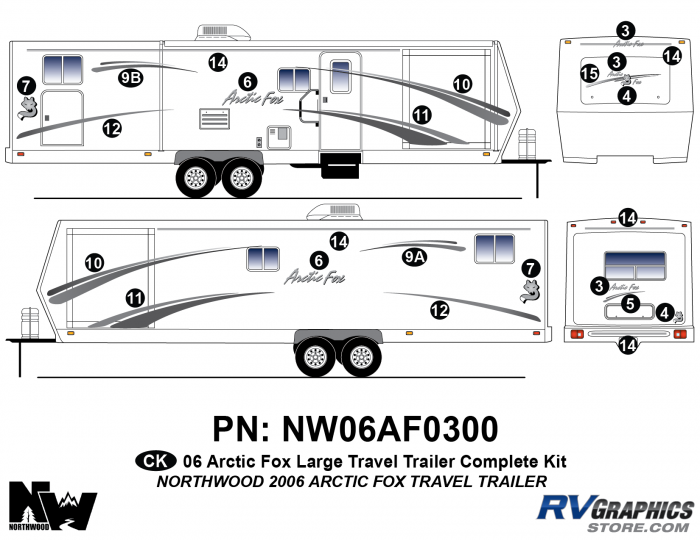 2006 Arctic Fox Lg TT Complete Kit