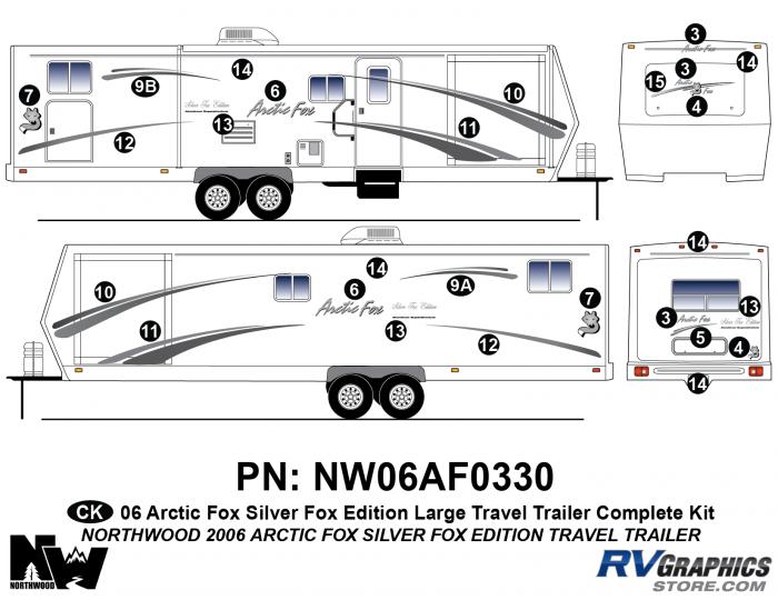 2006 Arctic Fox Silver Fox Edition Lg TT Complete Kit