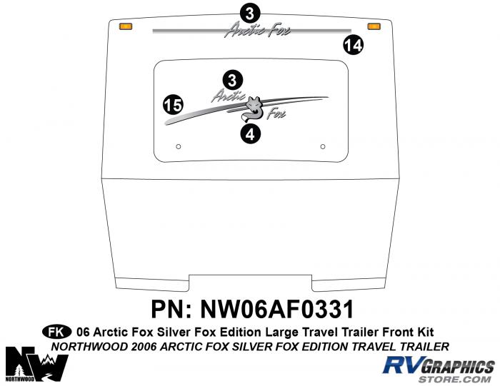 2006 Arctic Fox Silver Fox Edition Lg TT Front Kit