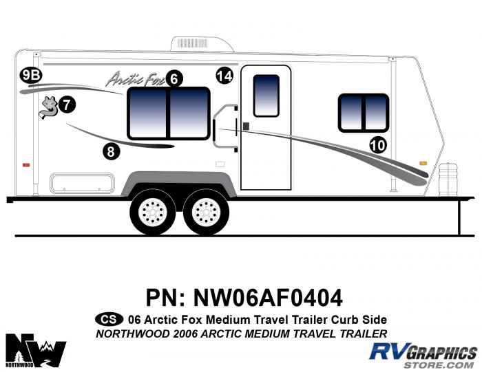 2006 Arctic Fox Med TT Right Side Kit