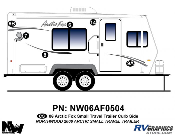 2006 Arctic Fox Small TT Right Side Kit