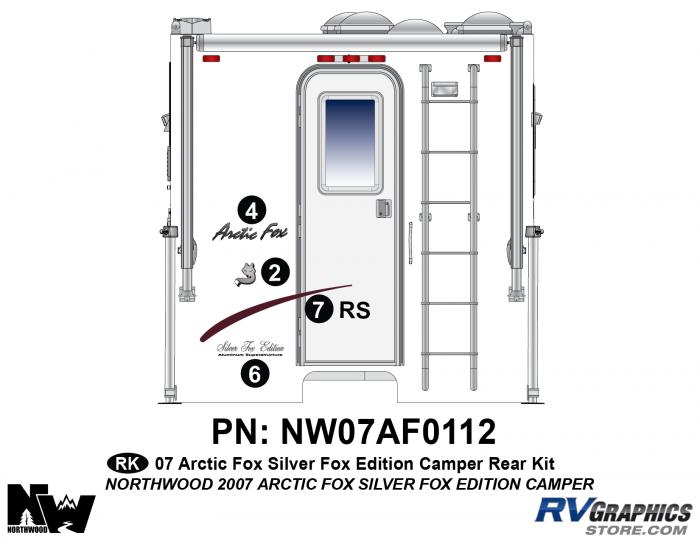 2007 Arctic Fox Silver Fox Edition Camper Rear Kit
