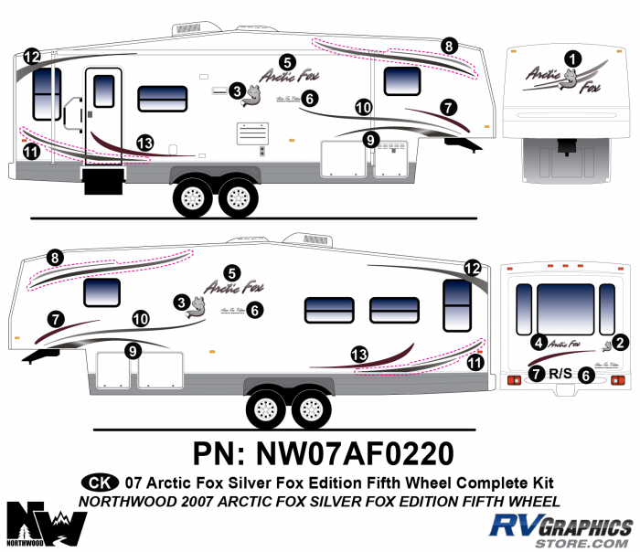 2007 Arctic Fox Silver Fox Edition FW Complete Kit
