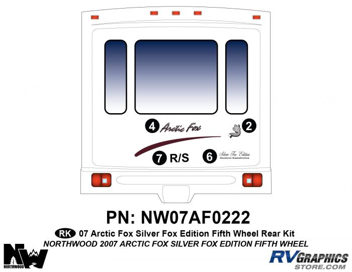 2007 Arctic Fox Silver Fox Edition FW Rear Kit
