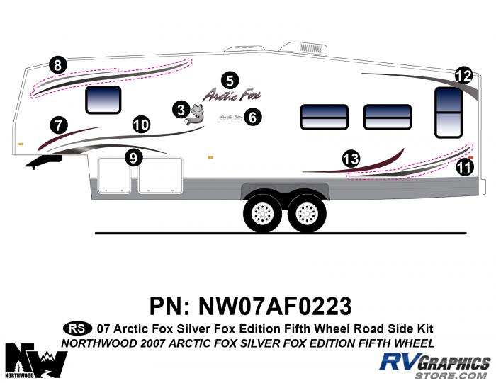 2007 Arctic Fox Silver Fox Edition FW Left Side Kit