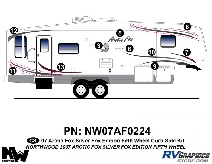 2007 Arctic Fox Silver Fox Edition FW Right Side Kit