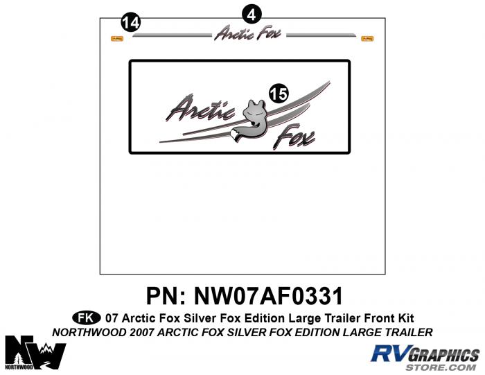 2007 Arctic Fox Large Travel Trailer SFE Front Kit