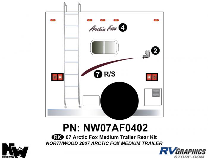 2007 Arctic Fox Med Travel Trailer Rear Kit