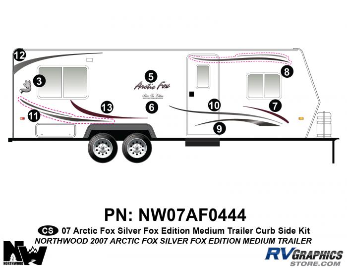 2007 Arctic Fox Med Travel Trailer SFE Right Side Kit
