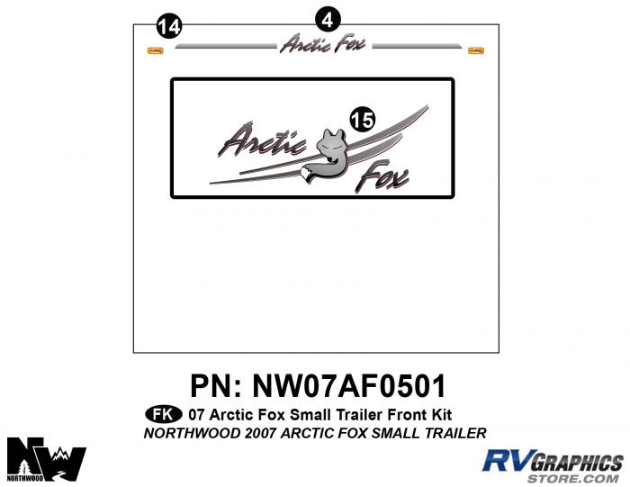 2007 Arctic Fox Sm Travel Trailer Front Kit