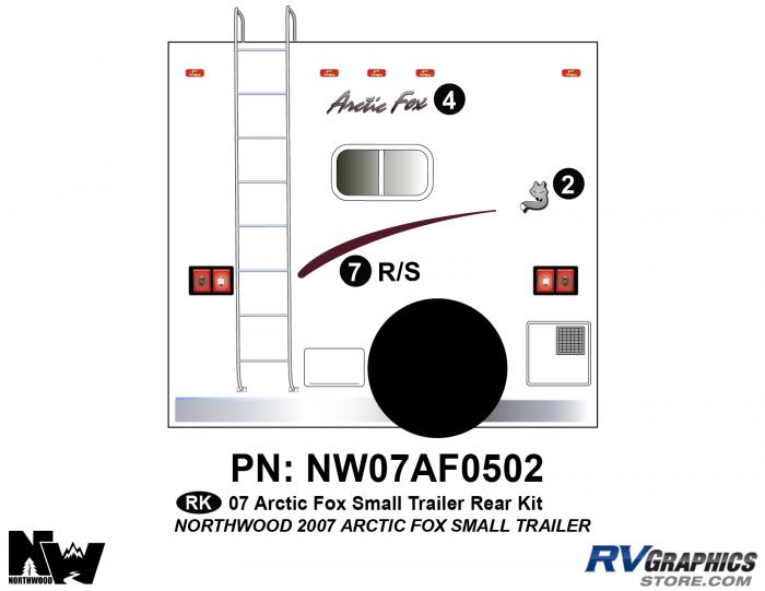 2007 Arctic Fox Sm Travel Trailer Rear Kit