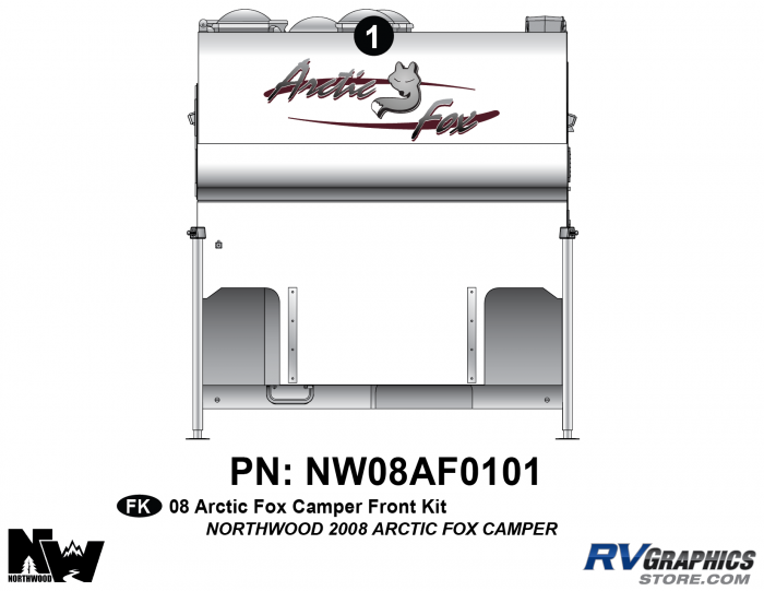 2008 Arctic Fox Camper Front Kit