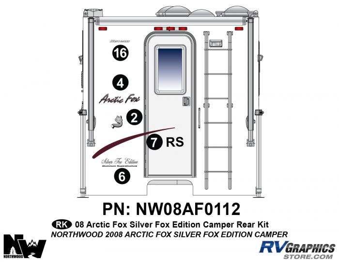 2008 Arctic Fox Silver Fox Edition Camper Rear Kit
