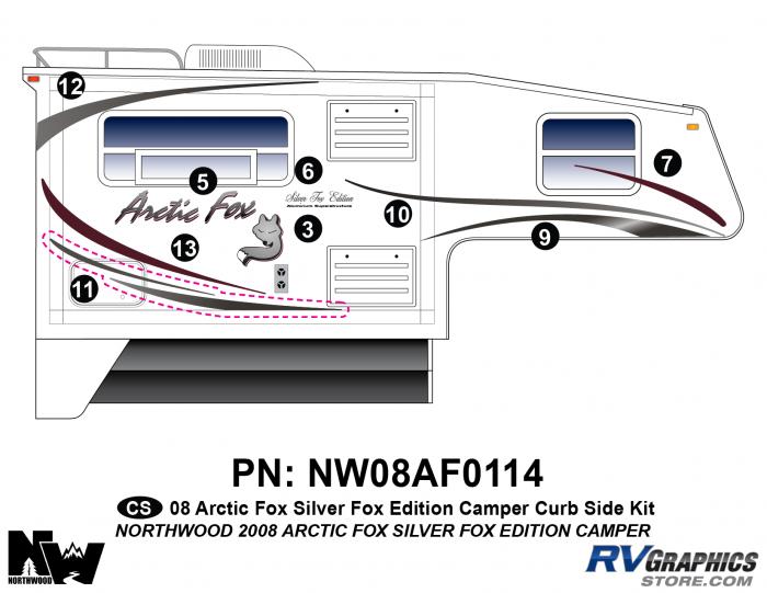 2008 Arctic Fox Silver Fox Edition Camper Right Side Kit