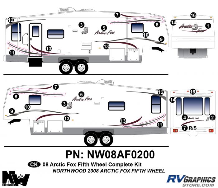 2008 Arctic Fox Fifth Wheel Complete Kit