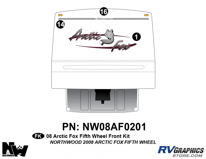 2008 Arctic Fox Fifth Wheel Front Kit