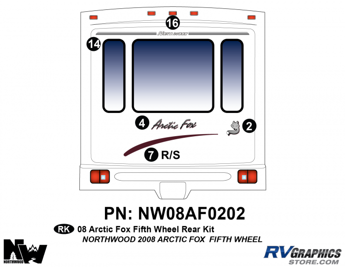 2008 Arctic Fox Fifth Wheel Rear Kit