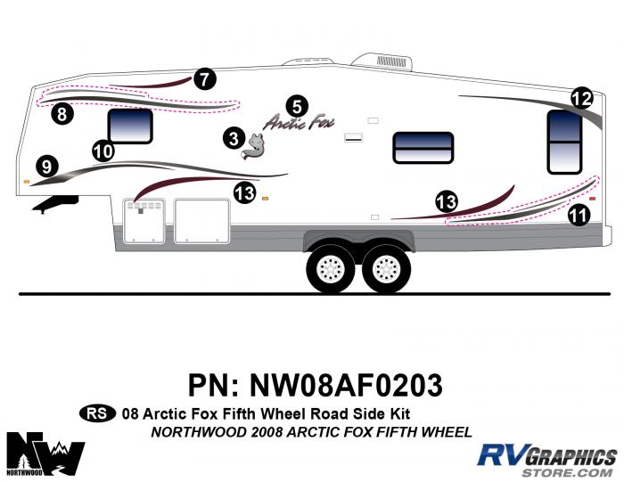 2008 Arctic Fox Fifth Wheel Left Side Kit