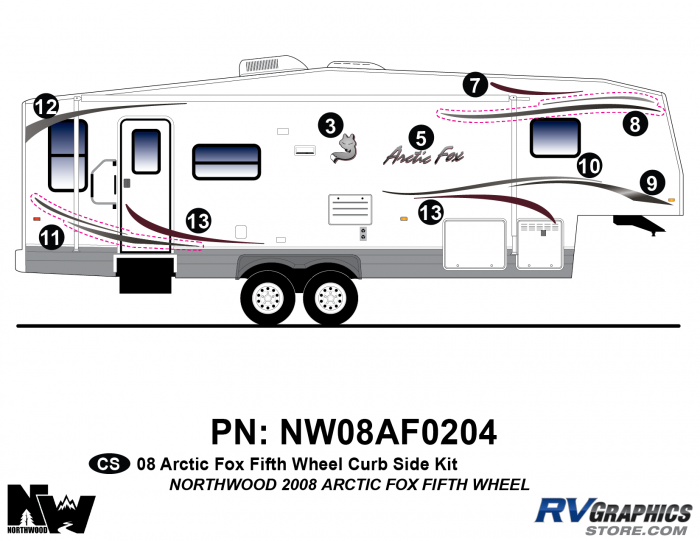 2008 Arctic Fox Fifth Wheel Right Side Kit