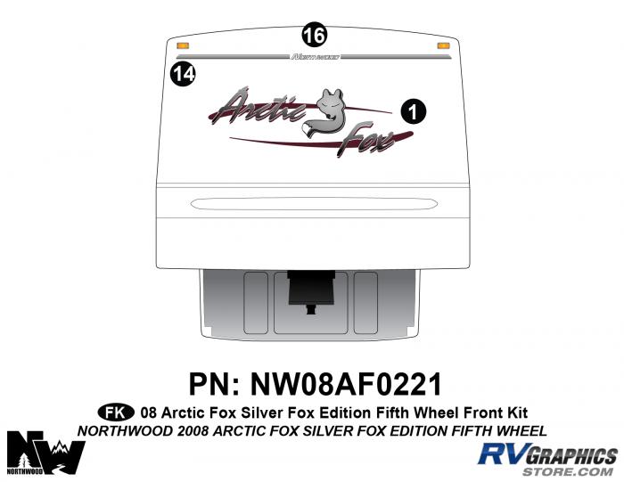 2008 Arctic Fox Silver Fox Edition FW Front Kit