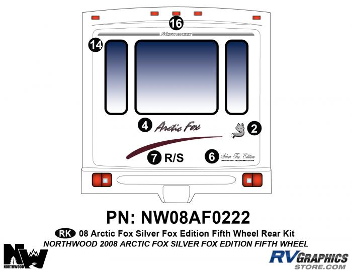2008 Arctic Fox Silver Fox Edition FW Rear Kit