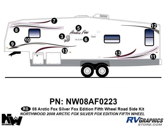 2008 Arctic Fox Silver Fox Edition FW Left Side Kit