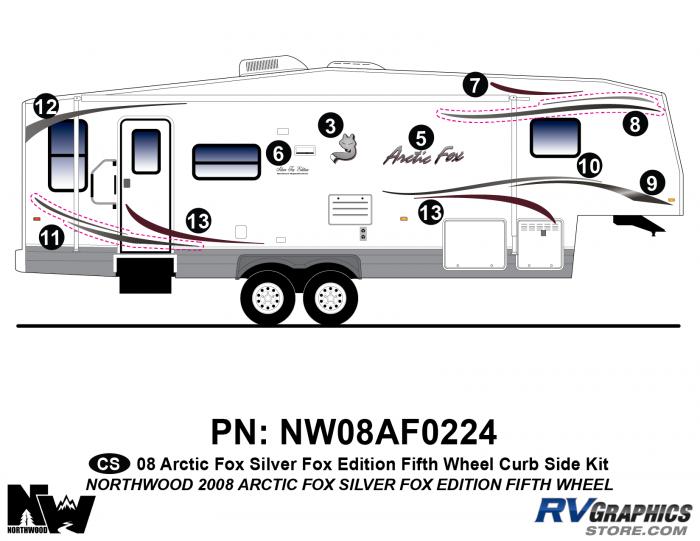 2008 Arctic Fox Silver Fox Edition FW Right Side Kit