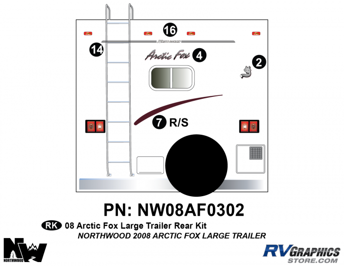 2008 Arctic Fox Large Travel Trailer Rear Kit
