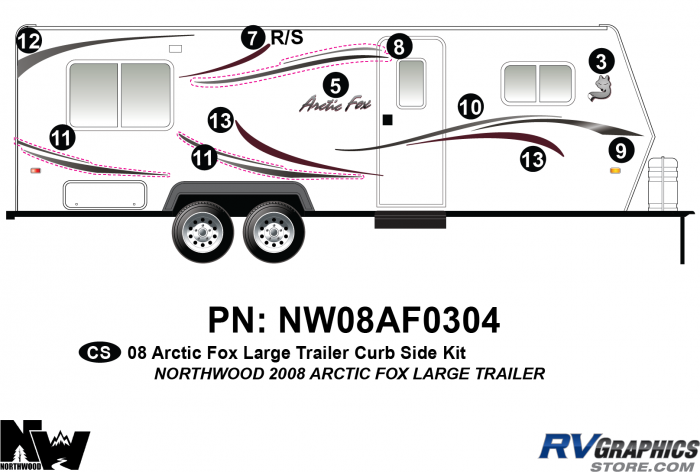 2008 Arctic Fox Large Travel Trailer Right Side Kit