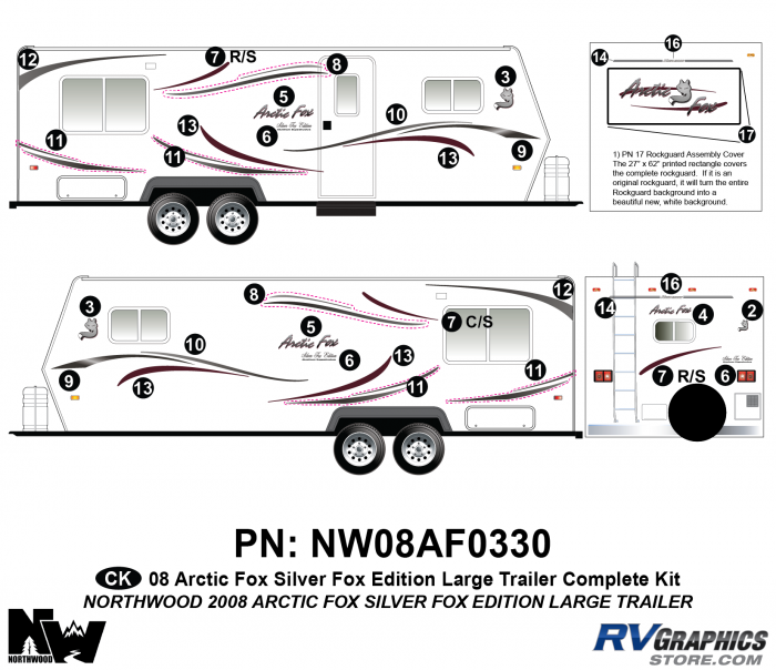 2008 Arctic Fox Large Travel Trailer SFE Complete Kit