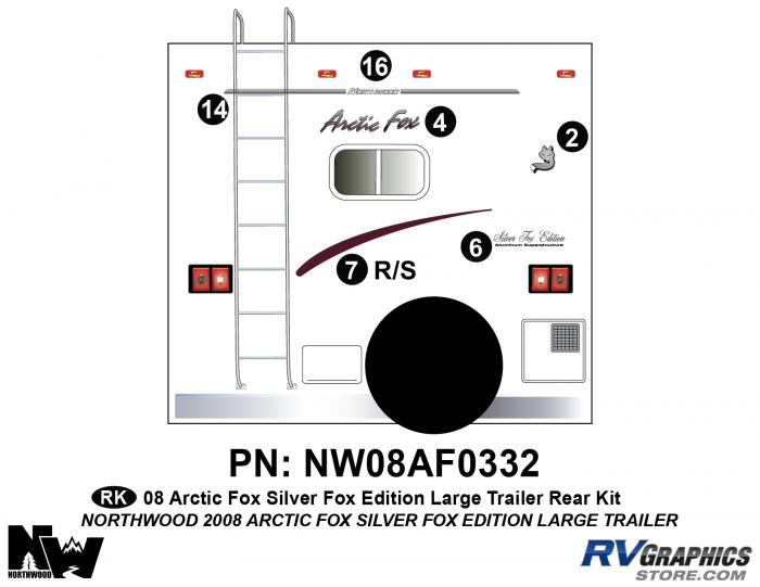2008 Arctic Fox Large Travel Trailer SFE Rear Kit