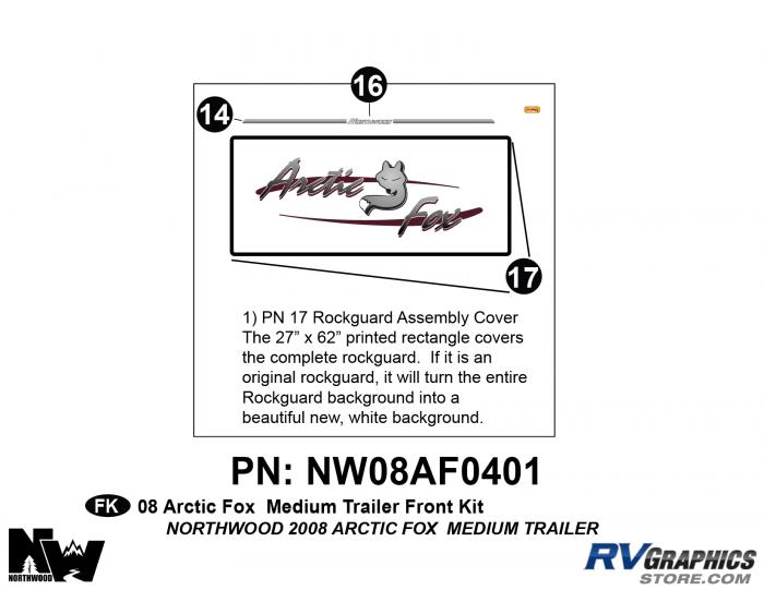 2008 Arctic Fox Med Travel Trailer Front Kit