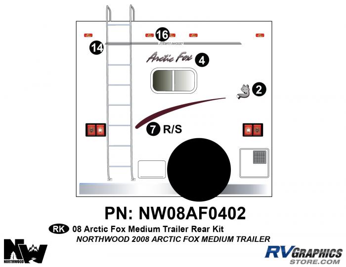2008 Arctic Fox Med Travel Trailer Rear Kit