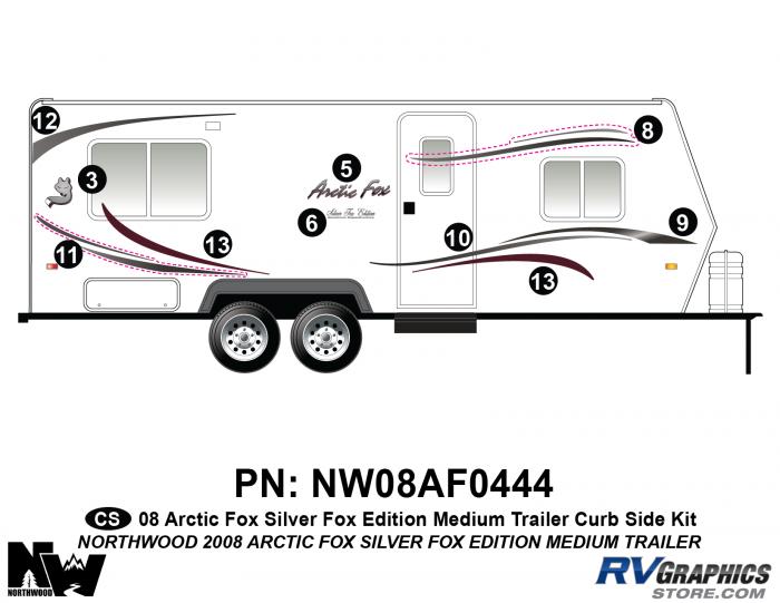 2008 Arctic Fox Med Travel Trailer SFE Right Side Kit