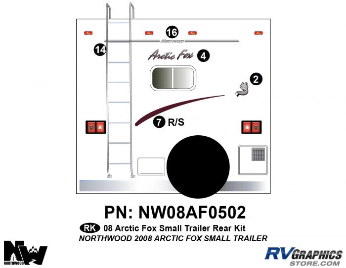 2008 Arctic Fox Sm Travel Trailer Rear Kit