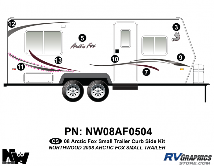2008 Arctic Fox Sm Travel Trailer Right Side Kit
